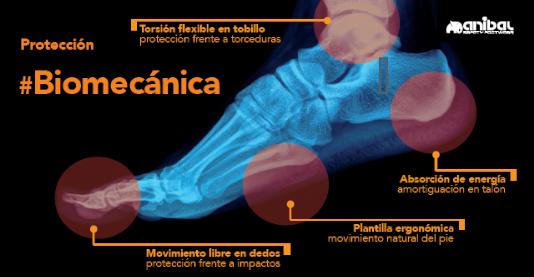 Protección biomecánica de los pies