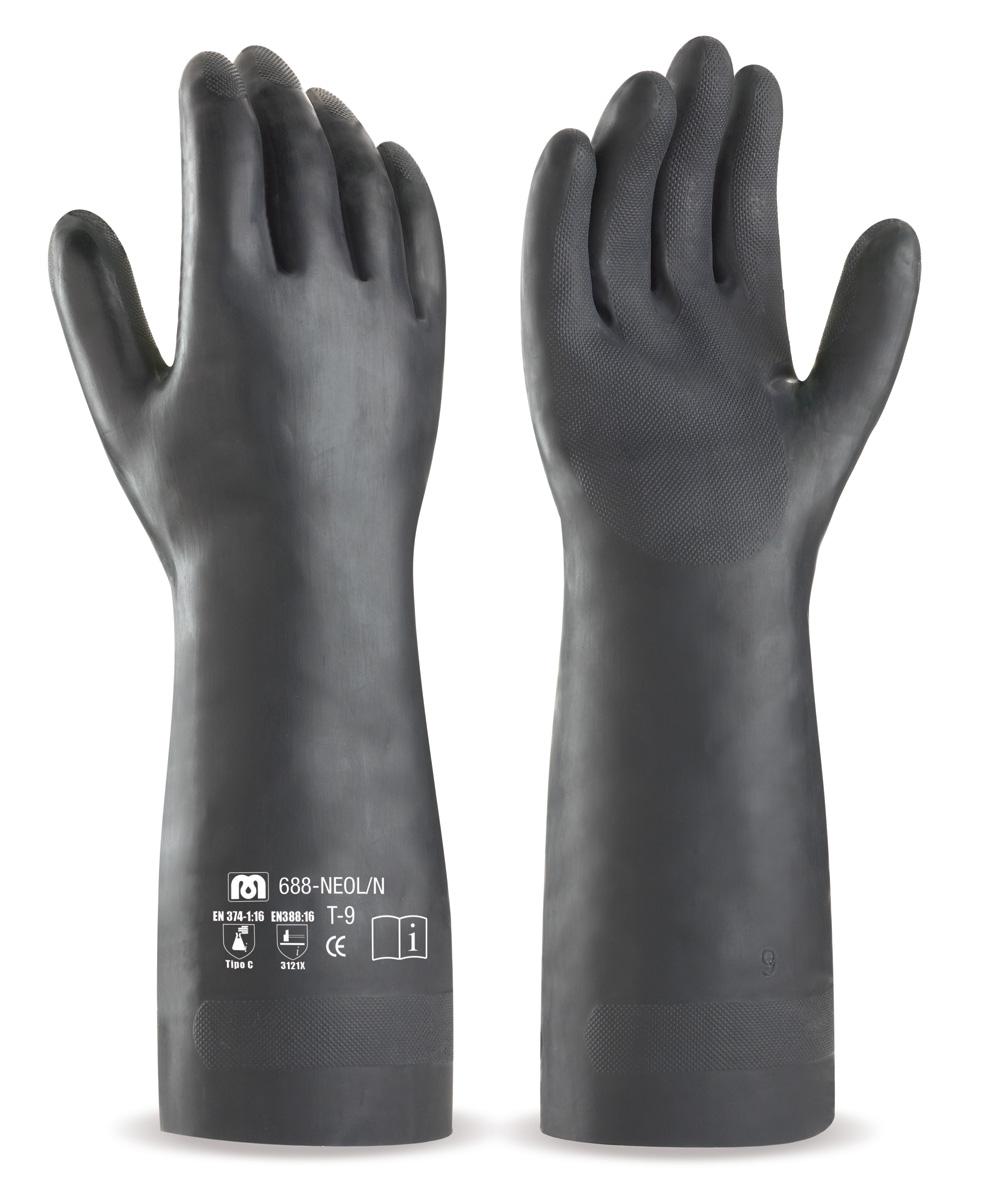 688-NEOL N Guantes de Trabajo Neopreno Guante largo de neopreno color negro  para e6daa8d405e
