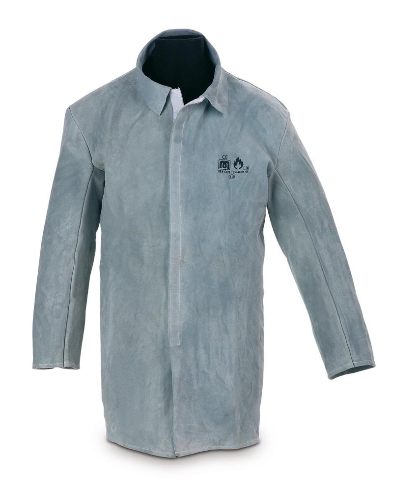 dd14493c92f marcapl. 888-CHS Vestuario Laboral Soldador Chaqueta de piel serraje con  velcro.
